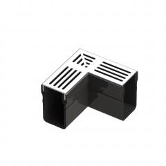 Aquadrain Grey Grating Corner